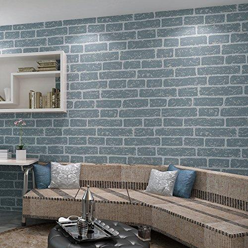BBSLT Nuovo tessuto-non-tessuto di schiuma solido mattone pattern sfondo bianco muro di mattoni negozio di abbigliamento Wedding photography sfondo , blu , 0.53m*10m - Stati Uniti Schiuma Mappa