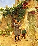 Das Museum Outlet–Junge mit Blumentöpfe, 1913–Leinwand Print Online kaufen (101,6x 127cm)