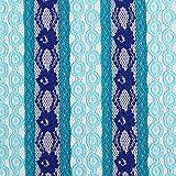 Fabulous Fabrics Spitze Blumenkreise - blau - Meterware ab