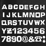 40Stück/Set 3D DIY Chrom ABS Alphabet Buchstabe Zahl Aufkleber Auto Emblem Buchstabe Badge Symbol Aufkleber Auto Styling