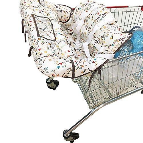 kakiblin Sommer 2-in-1-Infant Baumwolle Warenkorb Bezug und Sitz Positionierer, Universal Größe, Blumen Design