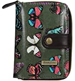 Coco Glitter Multicolor Butterfly Print Wallet - Small
