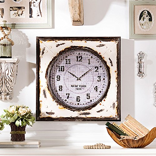 Nwn Reloj de Pared American Living Room Pared Vintage Decorativo Reloj de...
