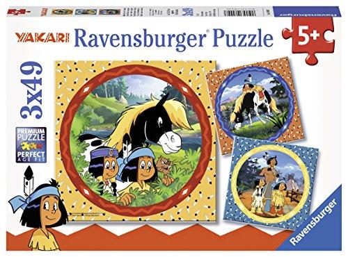 Ravensburger Kinderpuzzle 08000 Yakari, der tapfere Indianer Kinderpuzzle