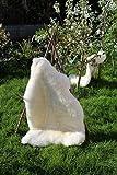 Alpenfell Schaffell Premium-Qualität Lammfell 120-130cm Weiß Echtes Fell ökologische Gerbung