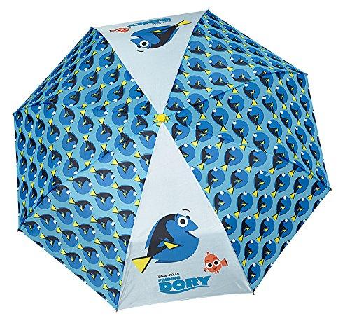 Kinder Schirm Disney Finding Dory für Jungen - Taschenschirm aus Findet Dorie - Leichter Kompakter und Windfester Regenschirm - Durchmesser 89 cm - Perletti