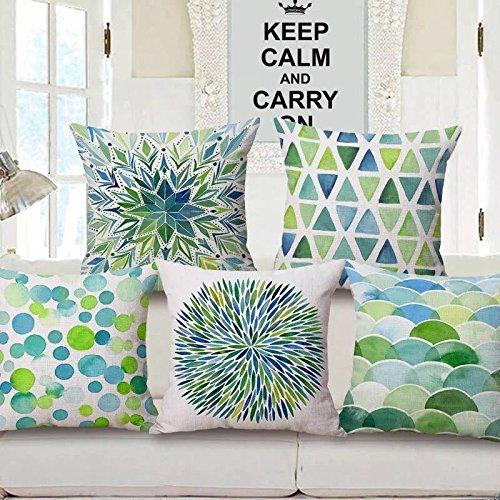 RD Trend Modern 5 Piece Set Jute Cushion Cover/Saitin Cushion Cover 250...