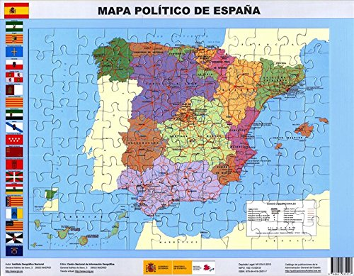 Magnetic puzzle Political map of Spain. 97 pieces. 37 x 27. IGN / CNIG