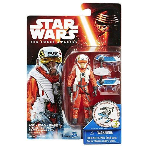 Star Wars The Force Awakens 3.75inch X-wing Pilot Asty Figure