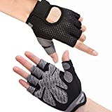 Hually Sport Handschoenen, Ademende Trainings Handschoenen met Microvezelstof, Antislip Siliconen Gewatteerde Palmbescherming