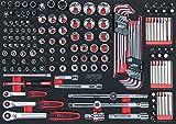 'KS Tools 7810160SCS Chromeplus Steckschlüssel Satz, 1/1System einfügen 160-teilig, 1/10,2cm und 3/8und 1/5,1cm