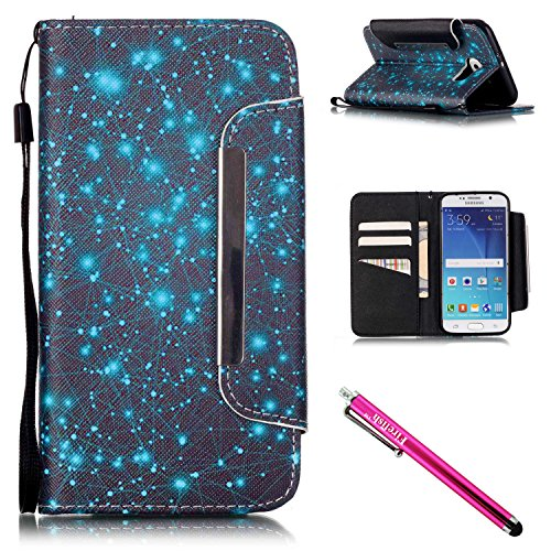 coque-galaxy-s6-firefish-slots-pour-carte-kickstand-flip-folio-wallet-case-cuir-synthetique-shell-sc