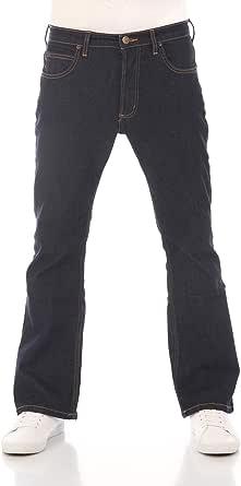 Lee - Jeans bootcut Denver, in denim, da uomo, tessuto elastico, in cotone, blu, taglie w30-w44