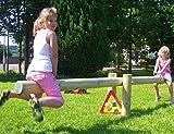 XXL Wippe aus Holz 400cm Lang Holzwippe mit Handgriffe Rundholz 14cm Neu Garten