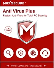 Max Secure Software Antivirus Platinum Version 6 - 1 PCs, 1 Year (Email Delivery in 2 Hours - No CD)