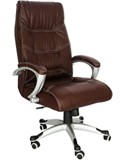 Office Chair in Brown Leatherette