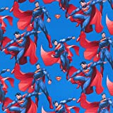 Fabulous Fabrics Cretonne Superman 2 - blau - Meterware ab