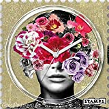 Stamps Cadran de montre Stamps head full of flowers 4 x 4 cm