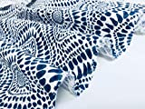 LushFabric Blaue spanische Fliese Stoff Floral Mandala