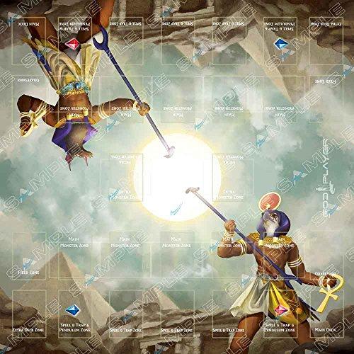 Preisvergleich Produktbild Playmat Big for 2 Players Ra vs Seth - Ancient Egypt God - Card Game Rubber Mat ideal for Link monsters Yugioh