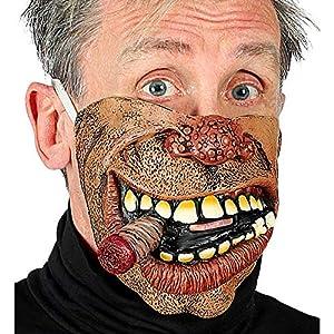 WIDMANN 01159 Biker - Media máscara para la cara inferior, hombre, marrón, talla única