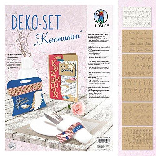 Ursus Deko-Set Kommunion 6 Blatt Stanzbogen Papier 149 Teile
