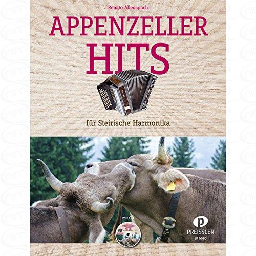 Appenzeller Hits - arrangiert für Steirische Handharmonika - Diat. Handharmonika [Noten/Sheetmusic] Komponist : ALLENSPACH R