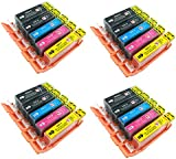 20 Canon Compatible Ink Cartridges for CANON PIXMA iP3600 iP4600 iP4700 MP540 MP550 MP560 MP620 MP630 MP640 MP980 MP990 MX860 MX870 Printer. PGI 520BK, CLI 521Y, CLI 521M, CLI 521C and CLI 521BK