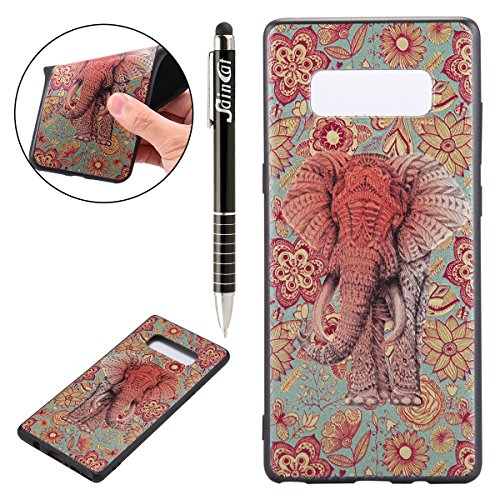 Custodia-Galaxy-Note-8-Galaxy-Note-8-Cover-Silicone-SainCat-Cover-per-Samsung-Galaxy-Note-8-Custodia-Silicone-Morbido-Custodia-Silicone-3D-Design-Ultra-Slim-Silicone-Case-Ultra-Sottile-Morbida-TPU-Gel