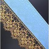 Blume Muster Lace Silikon Matte, Fondant Kuchen Schimmel, Backmatte, Kuchen, Grenze Dekoration Schimmel, Impressum strukturiert geprägt Form, Backform DIY Bakeware Dekorieren Tools–36x 8,2cm