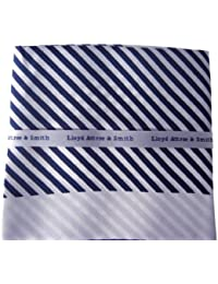 Blue and White Stripe Silk Pocket Hankie