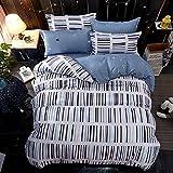 Specification:  Questo set di lenzuolo coperchio coperto di piumone include la copertura del duvet 1pcs e la federa di 2pcs.  La copertura del duvet è progettata come una copertura rimovibile per il tuo comforter e spesso caratterizza...