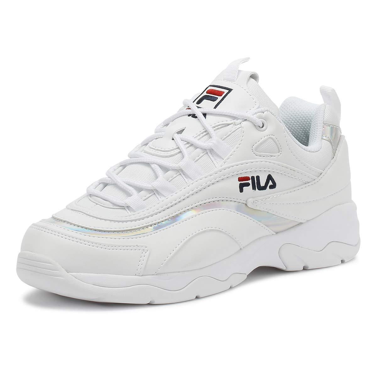 Fila Ray Damen Weiß/Metallic Silber Sneakers