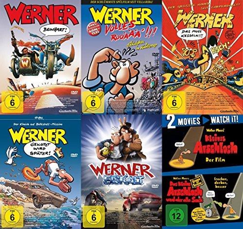Werner - Beinhart ! Teil 1 2 3 4 5 & Das kleine Arschloch - Der Film & Der alte Sack 7 DVD Edition