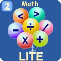 Second Grade Kids Math Lite - Balloon Pop, Feed the monkey, Divide Jellybeans, Multiply, Place Values regroup games.