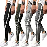 Shawnlen Men's Casual Skinny Track Pants Slack Bottoms Chino Slim Fit Trouser Long Tracksuit with Pockets S-3XL