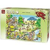 King kng05223Funny Comics Golf Safari Puzzle (1000Teile)