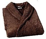 Home Basic - Albornoz con cuello tipo smoking, talla XXL, color marrón