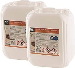 Höfer Chemie 6 X 10 L Bioethanol 96,6% Premium   TÜV SÜD Zertifizierte