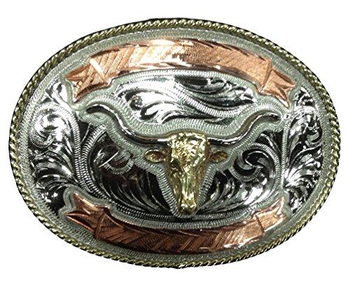 Modestone Antiqued Gun Metal Trophy Gürtelschnalle Bull Head, 4'' X 3'' Gürtelschnalle Bull Riding