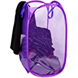 Perpetual Net Laundry Bag Foldable & Collapsible with Easy to Carry Handle- for Home, Dorms, Hostel (Multicolor) 30…