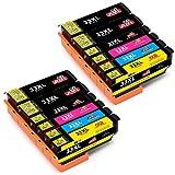 JIMIGO 33XL Druckerpatronen Ersatz für Epson 33 Patronen Kompatibel mit Epson Expression Premium XP-530 XP-540 XP-830 XP-640 XP-645 XP-635 XP-900 XP-630 (4 Schwarz, 2 Cyan, 2 Magenta, 2 Gelb, 2 PBK)