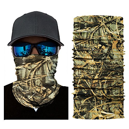 (Colorful Erwachsene Multifunktionstuch | Sturmmaske | Bandana | Schlauchtuch | Halstuch für Motorrad Fahrrad Ski Paintball Gamer Karneval Kostüm Skull Maske (A))