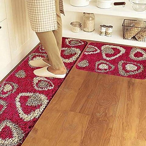 Küche mats lange streifen non-slip wasser absorption bathroom foot pad schlafzimmer bett decke-E 50x80cm(20x31inch)