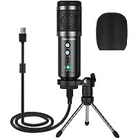 Microfono a Condensatore, ansinna Microfono USB Plug-And-Play per Giochi, Podcast, Youtube, Riproduzione Vocale e…