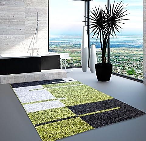 Teppich Modern Designer Wohnzimmer Shake Ebene Grün Beige Schwarz 160x230 cm