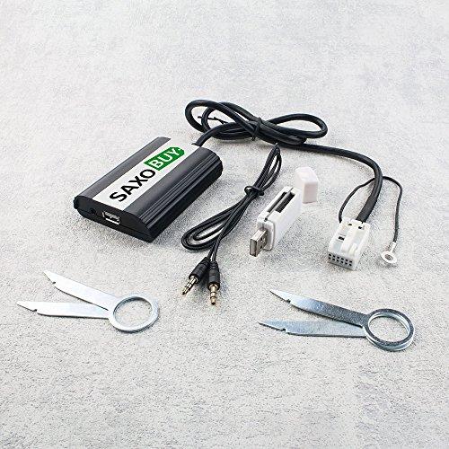 USB + SD+ Aux Adapter für VW R100 R110 RCD 200 300 RNS MFD2 RNS 200/300 | Audi Concert Chorus Navigation Plus 2+ RNS-E BNS 5.0 | Seat | Skoda