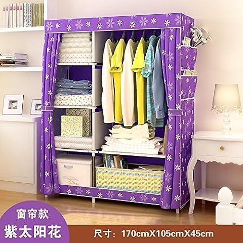 WJP modernos armarios simplificada de tela de refuerzo de bricolaje armario ropero W-377