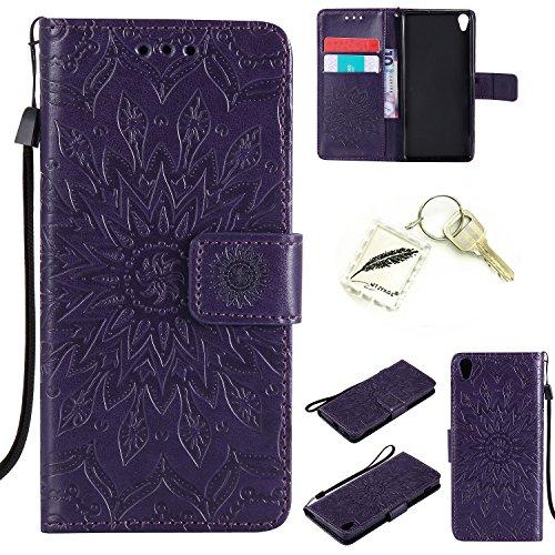 Preisvergleich Produktbild Silikonsoftshell PU Hülle für Sony Xperia XA (5 Zoll) Tasche Schutz Hülle Case Cover Etui Strass Schutz schutzhülle Bumper Schale Silicone case+Exquisite key chain X1) #AD (4)