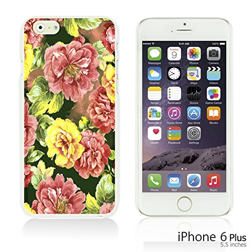 OBiDi - Flower Pattern Hardback Case / Housse pour Apple iPhone 6 Plus / 6S Plus (5.5)Smartphone - Colorful Floral Art Paint Red Roses